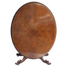 19th Century English Victorian Burr Walnut Dining Table