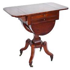 19th Century English Regency Mahogany Work Table