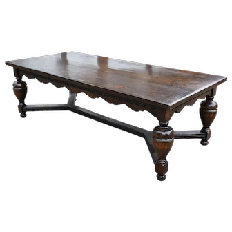 Large 19th Century Solid Oak Refectory Table
