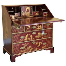 18th Century George III Chinoiserie Bureau