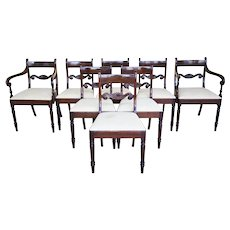 Set of 8 19th Century English George III Mahogany Dining Chairs