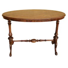 19th Century Victorian Burr Walnut Side Table