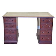 George III Mahogany Pedestal Desk