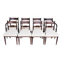 Set of 8 English George III Mahogany Dining Chairs