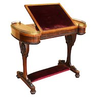 19th Century William IV Rosewood Writing Table