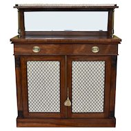 19th Century English Regency Rosewood Chiffonier