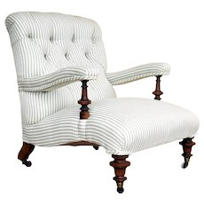 19th Century Victorian Armchair by Howard & Sons, Berner Street