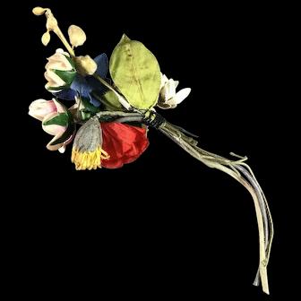 Antique Victorian Hat flowers