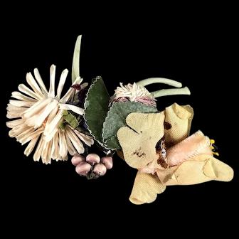 Antique Victorian hat flower embellishment