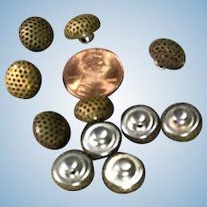 Vintage Brass Metal Buttons