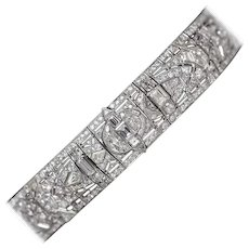 "1930s 37 Carat Diamonds Platinum  ""Great Gatsby"" Choker Necklace"