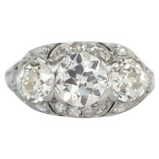 Circa Platinum GIA 2.35cttw Diamond Engagement Ring-VEG#825A
