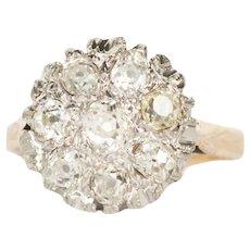 Circa 1900 14k Yellow Gold 1.00cttw Old Mine Brilliant Diamonds Engagement Ring-VEG#1449