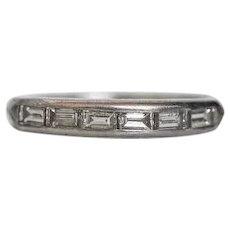 Circa 1930's 900 Platinum Wedding Band - VEG#441