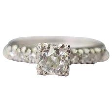 900 Platinum .50cttw Engagement Ring - VEG #96