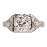 Circa 1920 GIA 1.50ct Old European Brilliant Diamond Engagement Ring-VEG#1000A