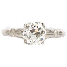 Circa 1910 Platinum 1.34ct Old European Diamond Engagement Ring- VEG#1232