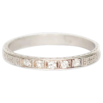Circa 1930 .08 cttw Single Cut  Diamond Wedding Band - VEG#1440