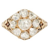 Circa 1880s 14k Yellow Gold 1.50cttw Rose Cut Diamond Ring - VEG#1462