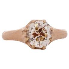 Circa 1890 900% Platinum GIA 1.84ct Cushion Diamond Engagement Ring - VEG#1534