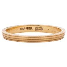 Circa 1920 Cartier 18K Yellow Gold Wedding Band - VEG#1537