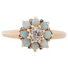 Circa 1900 14K Yellow Gold .18ct Cushion Cut Engagement Ring - VEG#1542