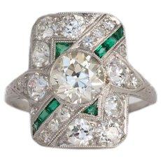 Circa 1920 1.20ct Old European Brilliant Diamond Engagement Ring-VEG#832A