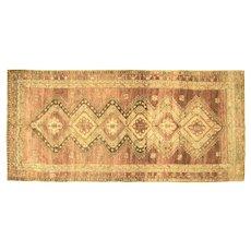 "1960s Turkish Oushak Carpet - 5'7"" x 12'4"""