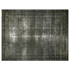 "1960s Overdyed Persian Tabriz Carpet - 9'9"" x 12'4"""
