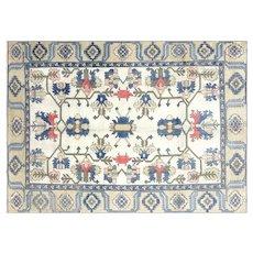 "1960s Turkish Oushak Carpet - 7'2"" x 10'"
