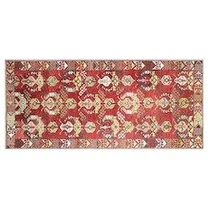 "1960s Turkish Oushak Carpet - 5'2"" x 11'3"""