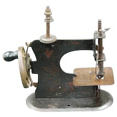 Tole Salesman's Sample Toy Sewing Machine