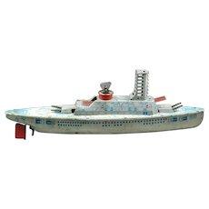Tin Litho Wolverine Battleship Toy