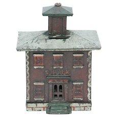 Vintage Cast Iron Large Cupola Bank