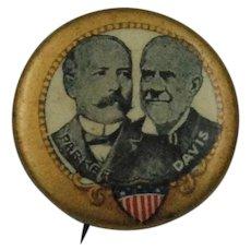 Candidates Parker/Davis Political Pin