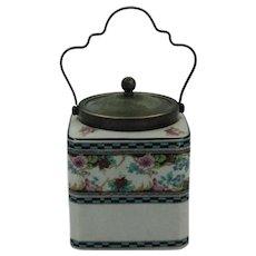 Vintage Porcelain Biscuit Jar made in Hanley England