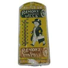 1940's Ramons Brownie Pills Thermometer
