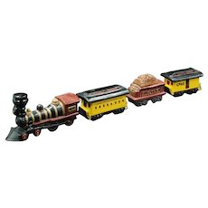 McCormick Distilling Company 4 piece Train Decanter Set by American Porcelain