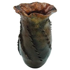 Early South Western Indian Pitch Pine Pottery Vase