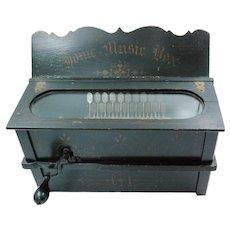 Vintage Pioneer Home Music Box Gem Roller Organ