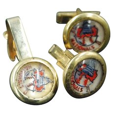 Collectible Washington Nationals Tie Tac and Cuff Links