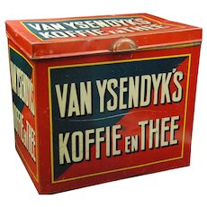 Vintage Dutch Koffie en Thee Coffee Storage Tin
