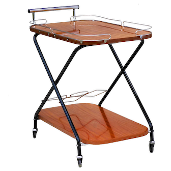 Vintage Mid Century Drinks Trolley Bar Cart 1960S France