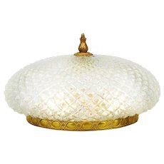 French Mid Century Flush Mount Ceiling Light C1960
