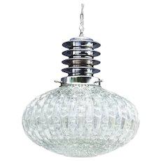 Mid Century Eliptical Globe Pendant Light 70S France
