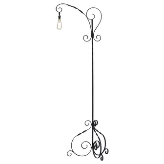 Wrought Iron Floor Lamp France C1950