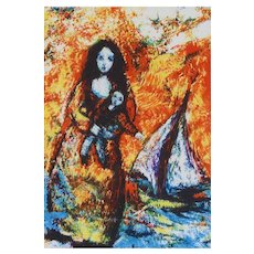 'MOTHERHOOD' By Raya Sorkine Artists' Print Signed