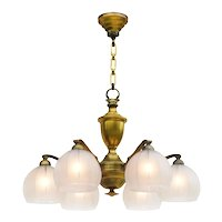 Antique French Six Light Chandelier C1920