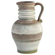 Mid Century Ceramic Art Pottery Jug West Germany c1970