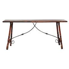 Antique Walnut Table c1900 Spain